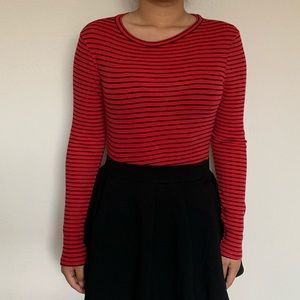 Striped red and black shirt